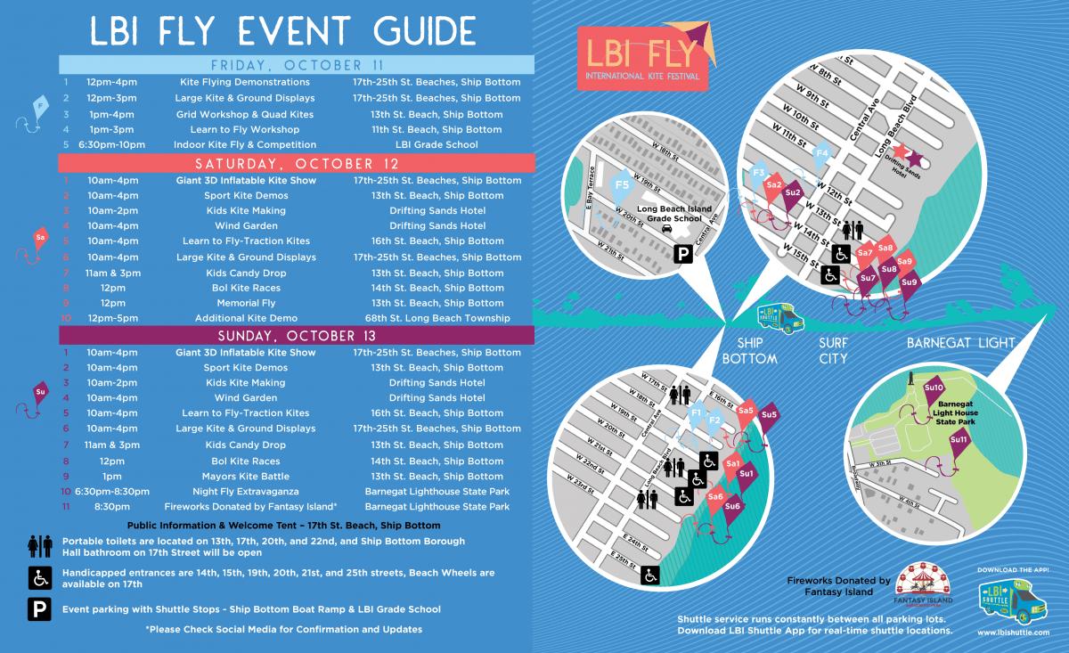 kite festival map